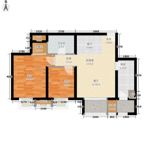丰润帝景豪庭2室0厅1卫1厨90.00㎡户型图