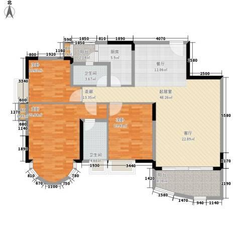 颐景华苑3室0厅2卫1厨135.00㎡户型图