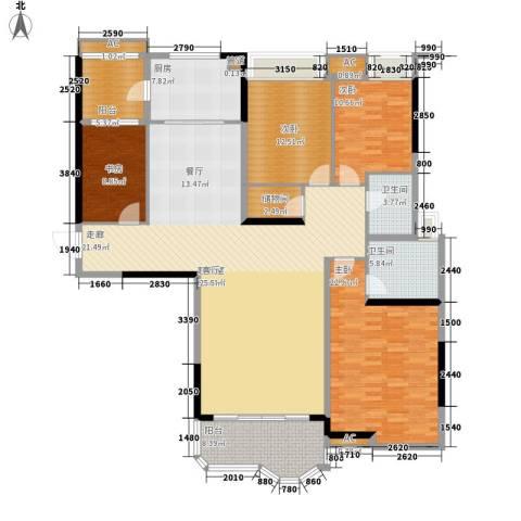 合生君景湾4室0厅2卫1厨170.00㎡户型图