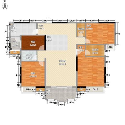 合生君景湾4室0厅2卫1厨163.00㎡户型图