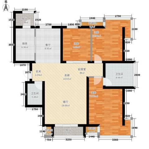 丰润帝景豪庭3室0厅2卫1厨146.00㎡户型图
