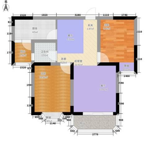银宾新苑2室0厅1卫1厨65.00㎡户型图