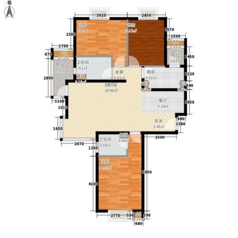 中建群贤汇3室0厅2卫1厨124.00㎡户型图