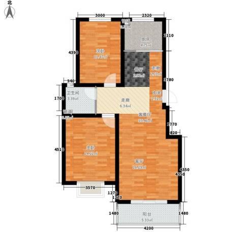 香木林2室1厅1卫1厨98.00㎡户型图