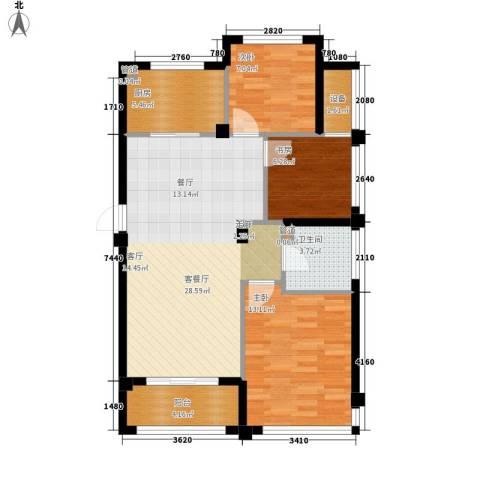 万联凤凰城3室1厅1卫1厨85.00㎡户型图