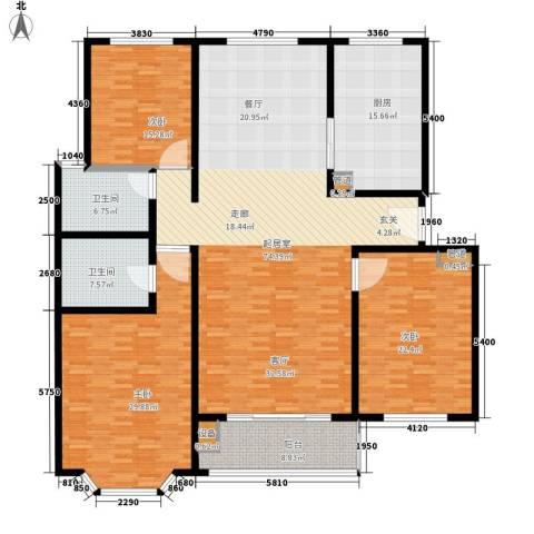 吉庆大厦3室0厅2卫1厨253.00㎡户型图