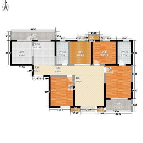 铭城16号4室0厅2卫1厨183.00㎡户型图