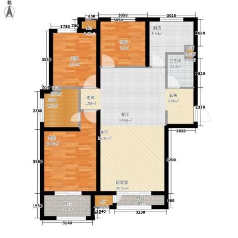 天承锦绣3室0厅1卫1厨126.00㎡户型图