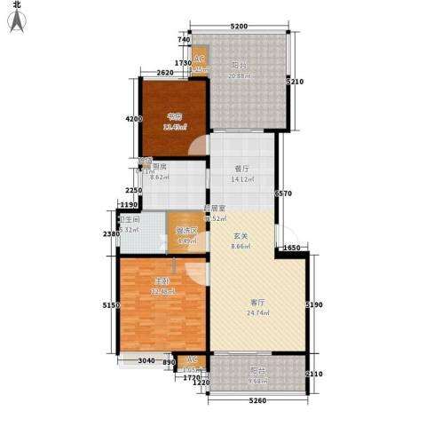 名仕花园2室0厅1卫1厨146.00㎡户型图