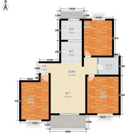 名仕花园3室0厅1卫1厨146.00㎡户型图