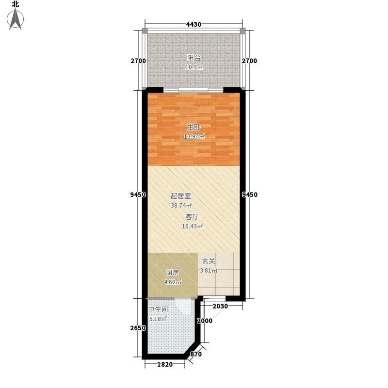 绿地荣域60.00㎡三期产权式酒店G2户型
