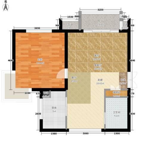 和信小区1室1厅1卫1厨71.00㎡户型图
