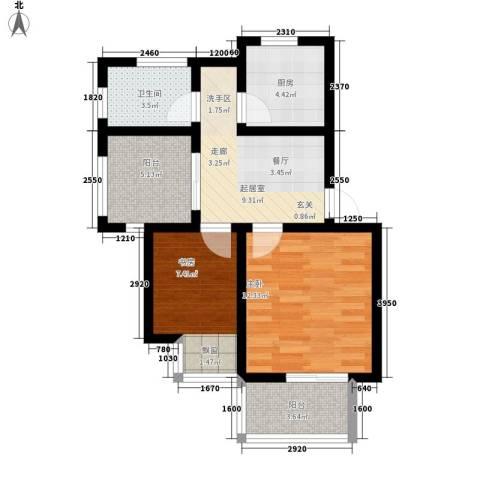 虎阜花园2室0厅1卫1厨69.00㎡户型图
