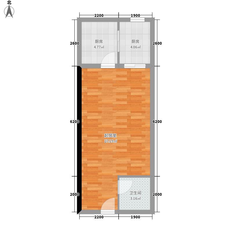 龙城高新天地46.00㎡C户型1室1厅