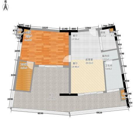 保利海陵岛1室0厅2卫1厨127.00㎡户型图