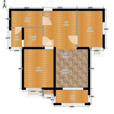 天下荣郡2室0厅1卫1厨99.00㎡户型图