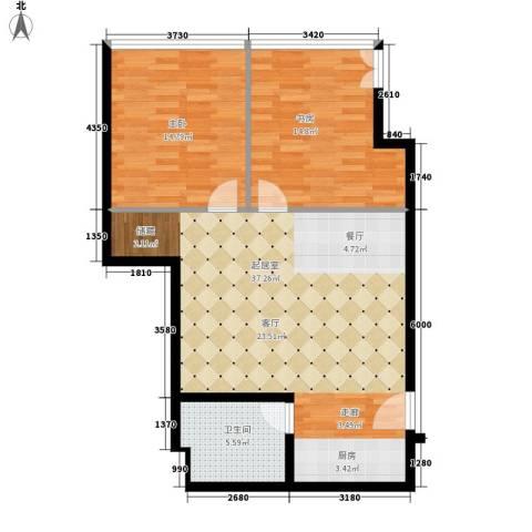 银座晶都国际2室0厅1卫0厨80.00㎡户型图