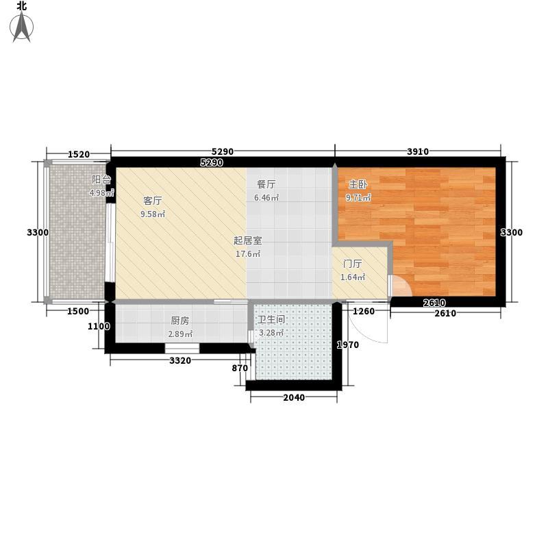 金源都市公寓58.00㎡面积5800m户型