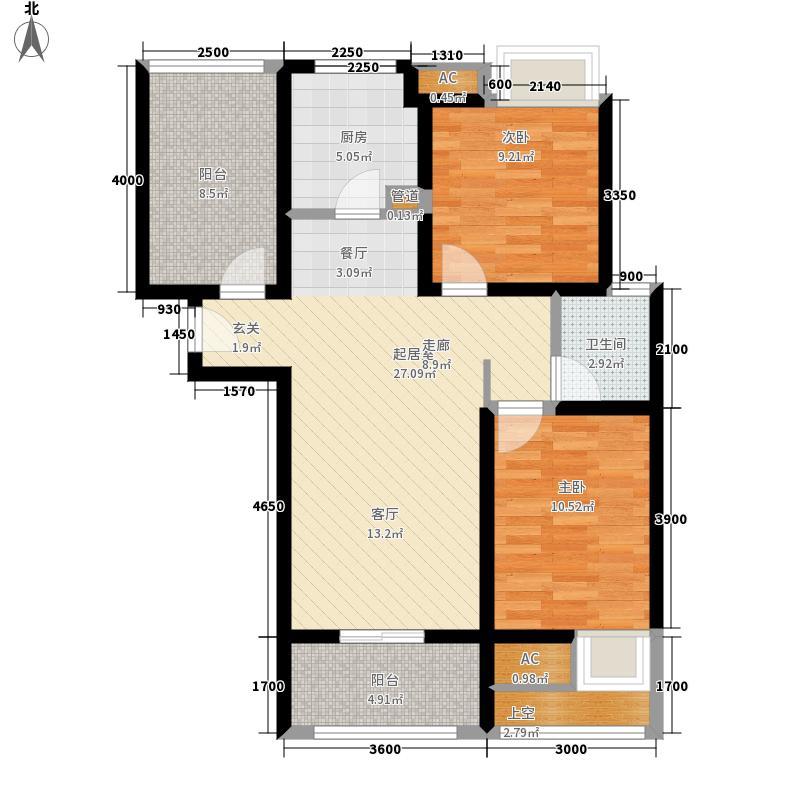 西湖一品99.00㎡D(2)户型3室2厅