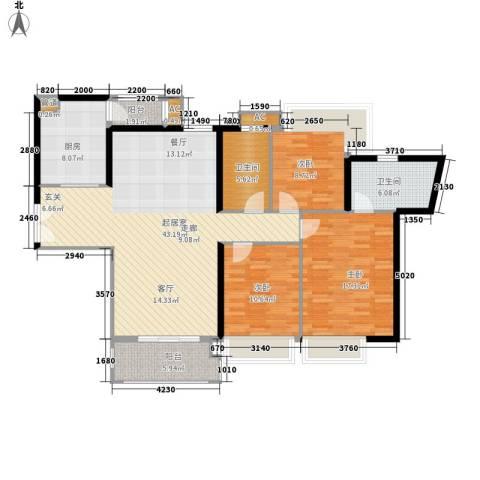 东风广场3室0厅2卫1厨122.00㎡户型图