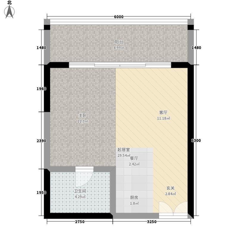 博鳌印象57.28㎡7#楼A3户型