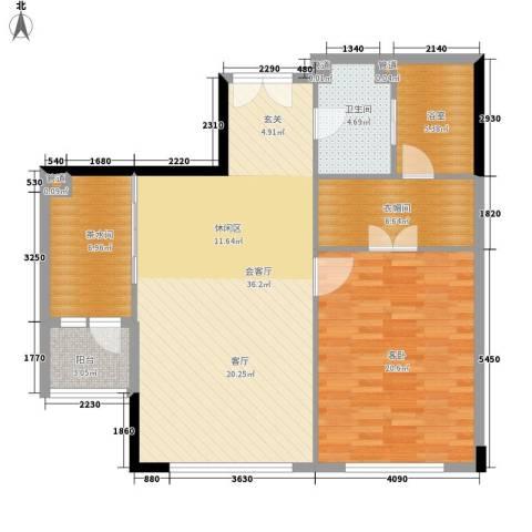 富力爱丁堡国际公寓1室0厅1卫0厨95.00㎡户型图