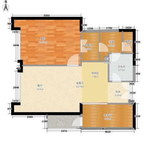 富力爱丁堡国际公寓1室0厅1卫0厨89.00㎡户型图