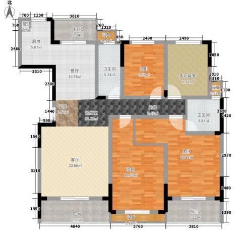 枫雅名苑3室0厅2卫0厨174.00㎡户型图