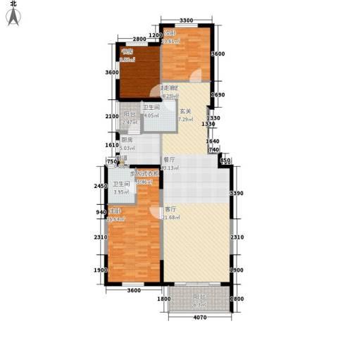 晶城秀府3室0厅2卫1厨132.00㎡户型图