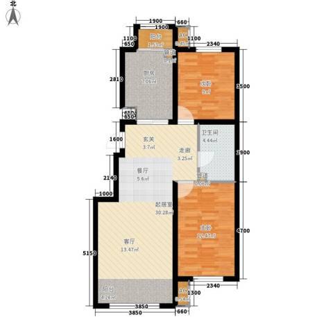 红赫世家2室0厅1卫1厨94.00㎡户型图