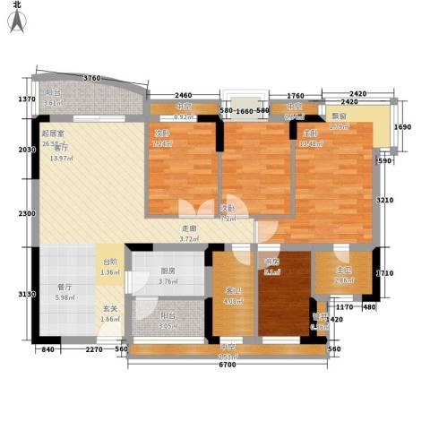 长青楼4室0厅0卫1厨96.00㎡户型图