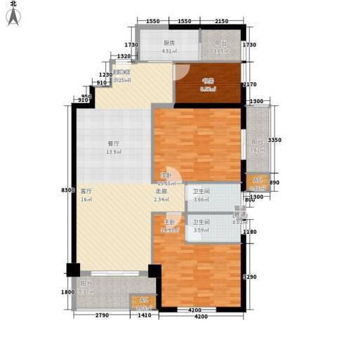 晶城秀府3室0厅2卫1厨131.00㎡户型图