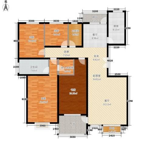 城市风景都市印象4室0厅2卫1厨157.26㎡户型图