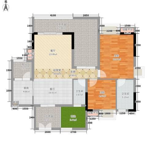 好美嘉园2室0厅2卫1厨108.00㎡户型图