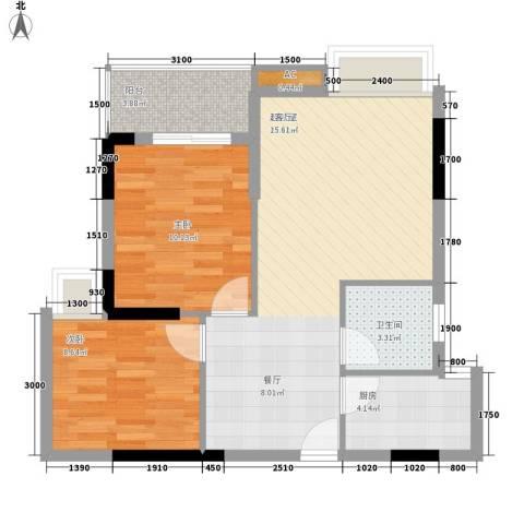 翰林1+12室0厅1卫1厨70.00㎡户型图