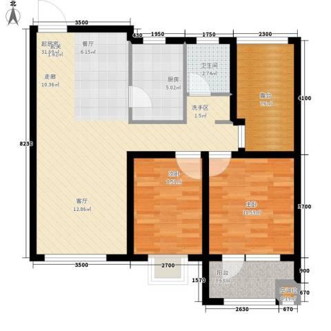 格林喜鹊花园2室0厅1卫1厨78.00㎡户型图