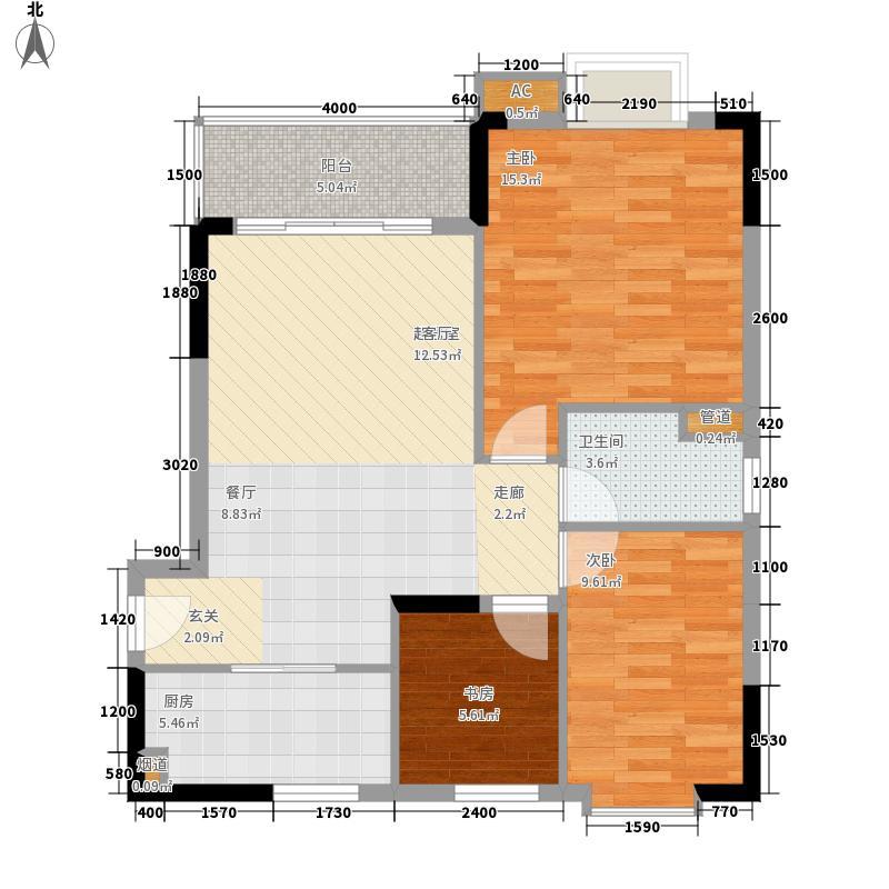 翰林1+187.81㎡B栋2-18层05、08面积8781m户型