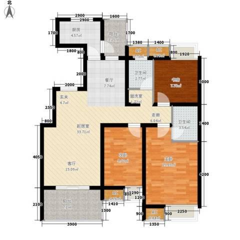 唐城家属院3室0厅2卫1厨131.00㎡户型图