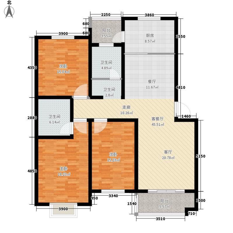 九里庭院139.00㎡面积13900m户型