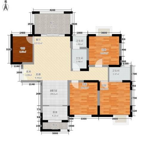 唐品A+4室0厅3卫1厨113.84㎡户型图