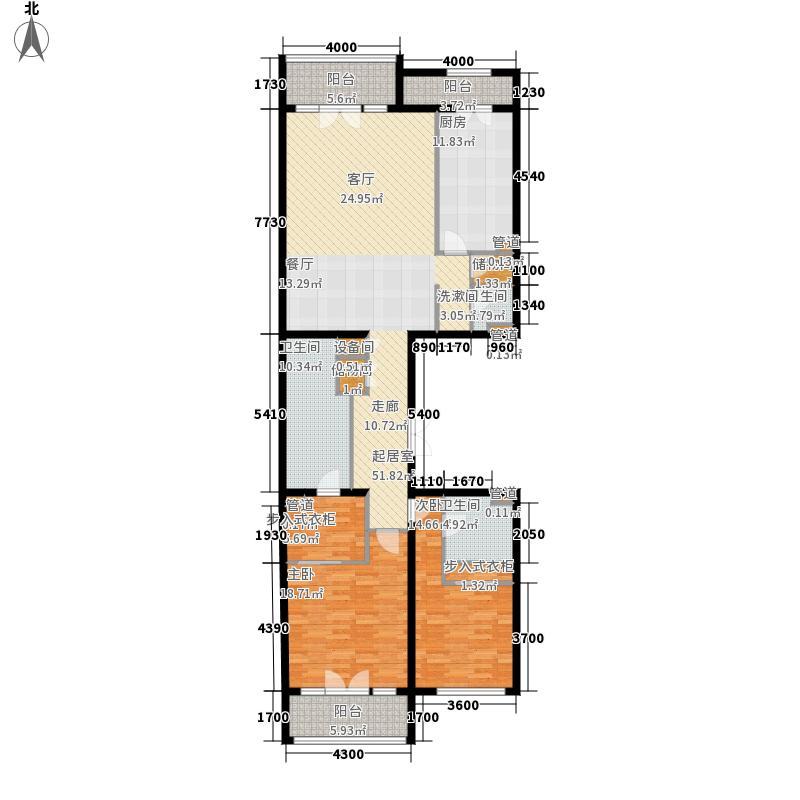 九号公寓193.40㎡K-1标准层面积19340m户型