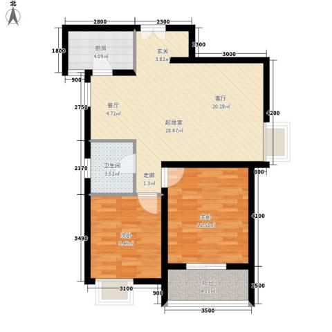 宏林尚品2室0厅1卫1厨92.00㎡户型图
