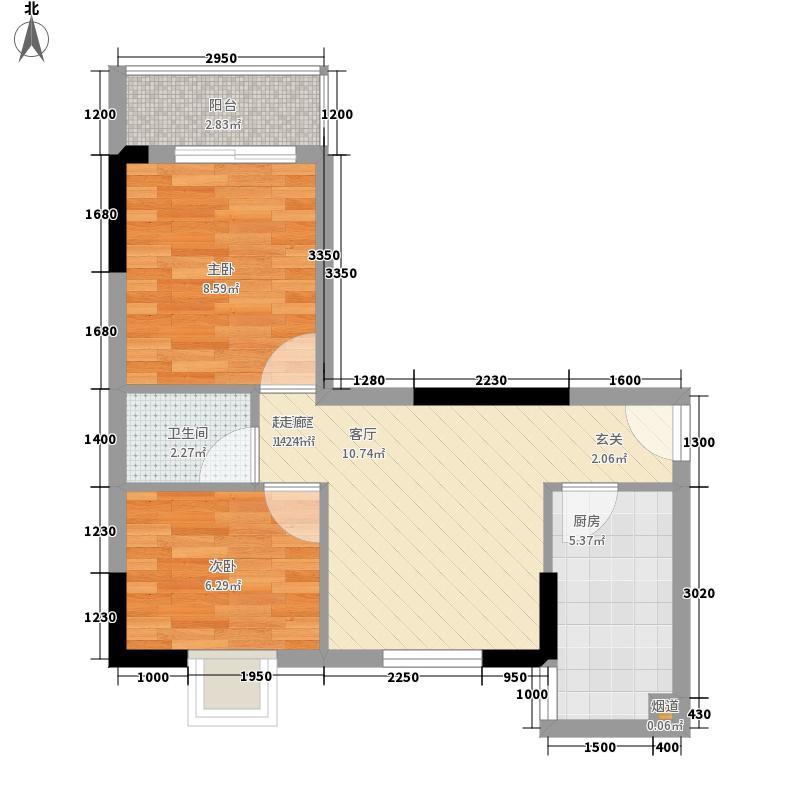 翰林1+150.41㎡D栋2-18层03单位面积5041m户型