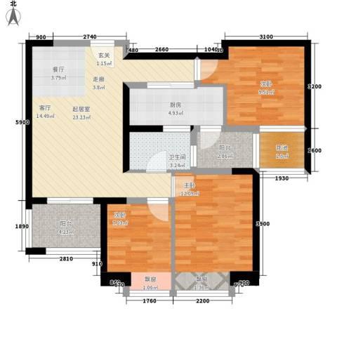 新基商住楼3室0厅1卫1厨95.00㎡户型图