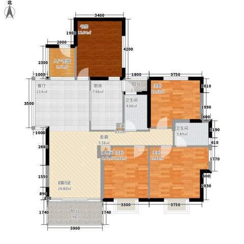 唐品A+4室0厅2卫1厨125.45㎡户型图