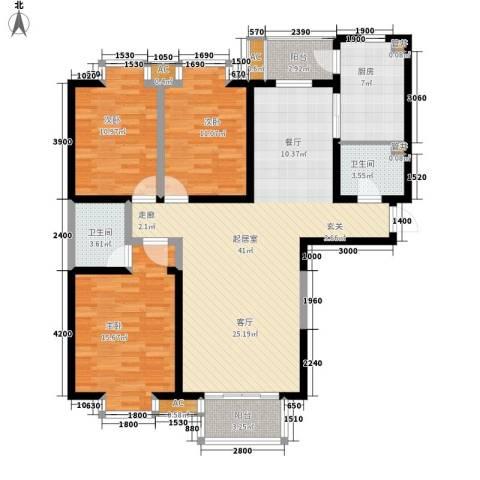 金康雅苑3室0厅2卫1厨135.00㎡户型图