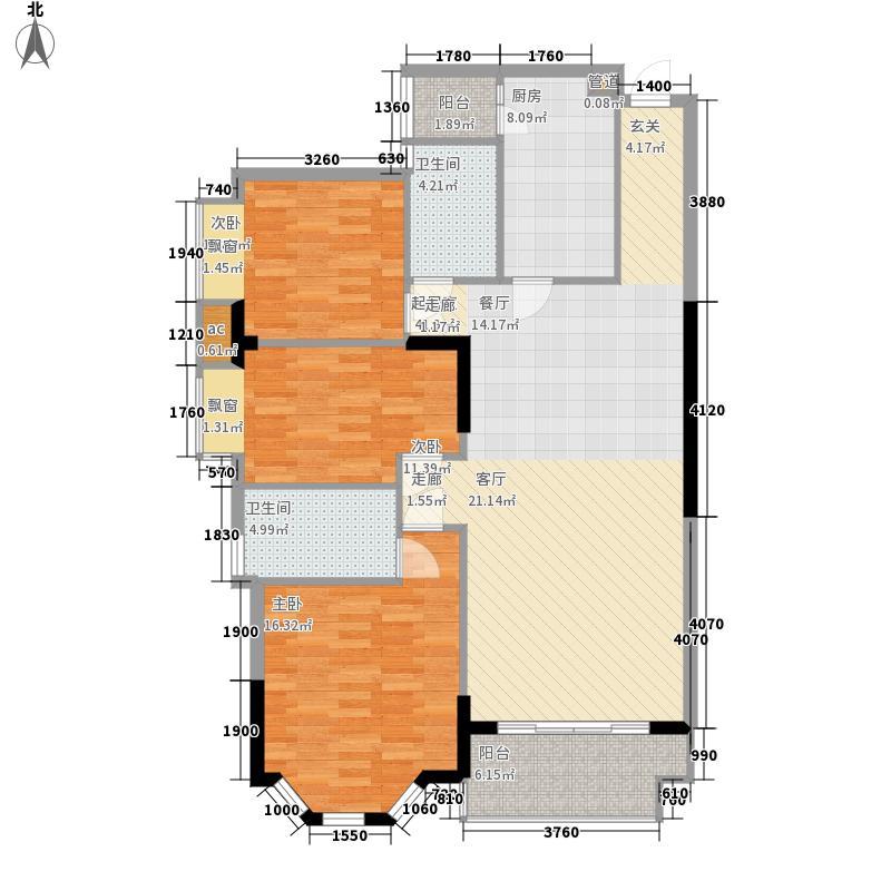 海伦堡御院118.00㎡14座1梯4层03面积11800m户型