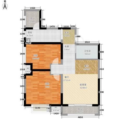 高山流水和城2室0厅1卫1厨94.00㎡户型图