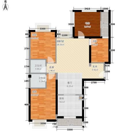 唐品A+4室0厅2卫1厨105.99㎡户型图