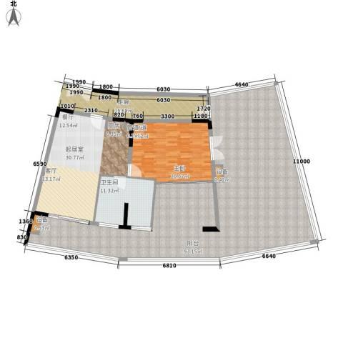 保利海陵岛1室0厅1卫0厨156.58㎡户型图